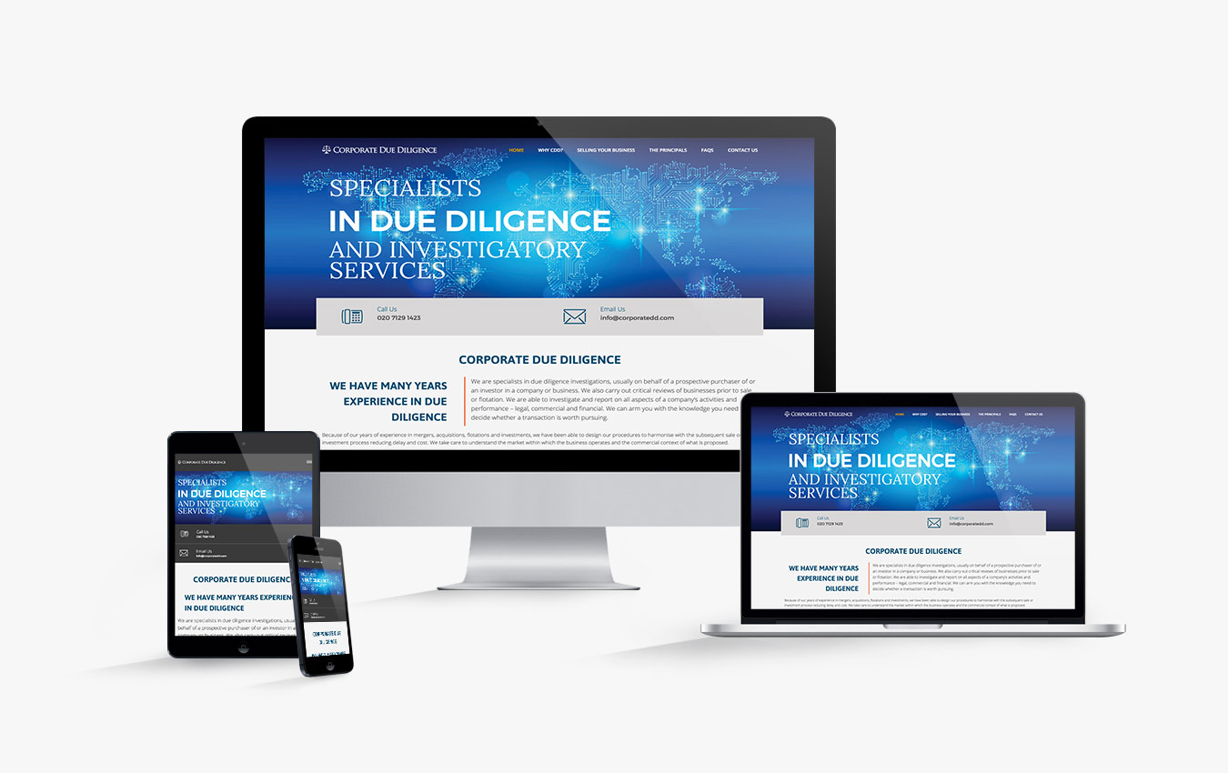 The Corporate Due Diligence website